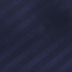 Venice Navy Blue Striped Bow Tie