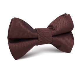 Vernazza Dark Brown Diamond Kids Bow Tie