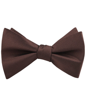 Vernazza Dark Brown Diamond Self Bow Tie