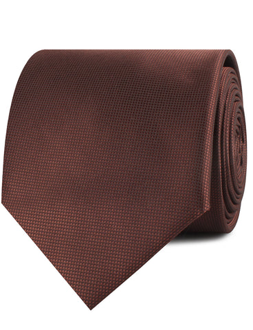 Vernazza Dark Brown Diamond Necktie