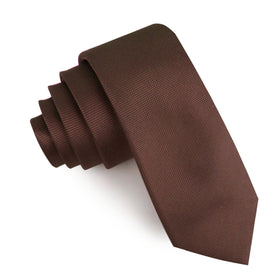 Vernazza Dark Brown Diamond Skinny Tie