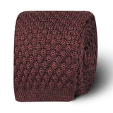 Verona Brown Knitted Tie