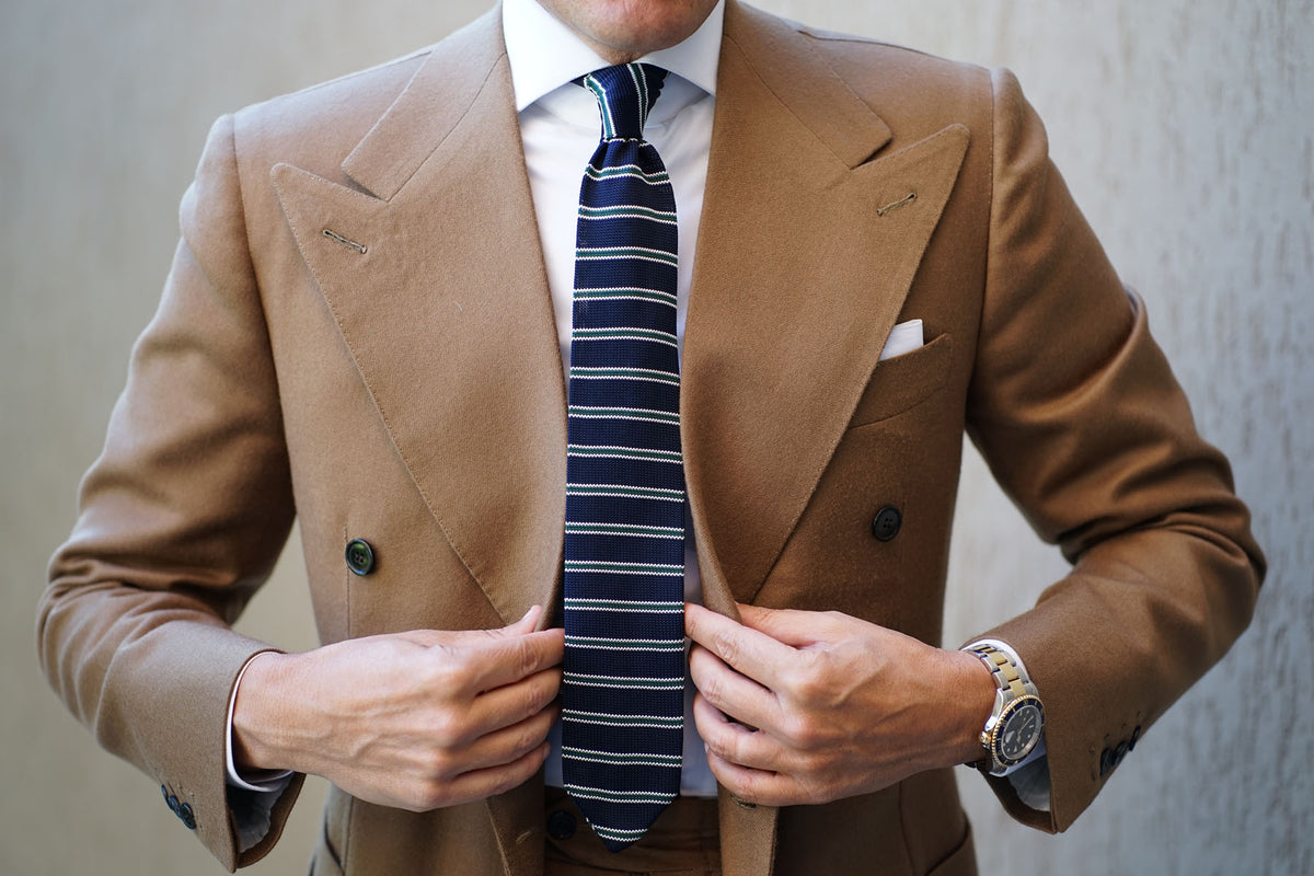 Viper Striped Knitted Tie