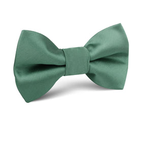 Viridian Green Satin Kids Bow Tie