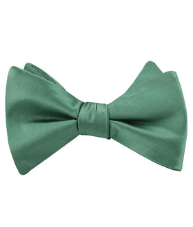 Viridian Green Satin Self Bow Tie