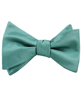 Viridian Green Twill Self Bow Tie