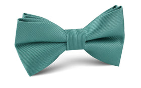 Viridian Green Twill Bow Tie