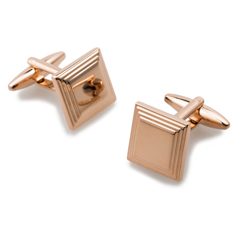 Vitelloni Rose Gold Square Cufflinks