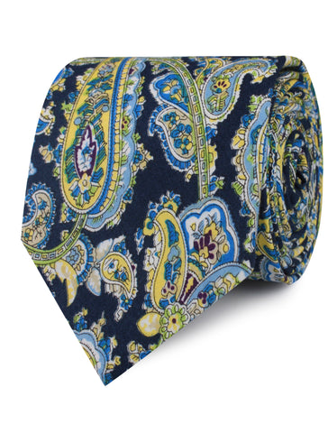 Vivara Yellow on Blue Paisley Tie