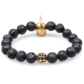 Volcanic Rock Gold Warrior Bracelet