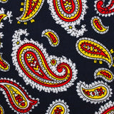 Vulcano Red & Yellow Paisley Fabric Kids Bowtie