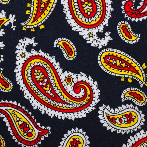 Vulcano Red & Yellow Paisley Pocket Square