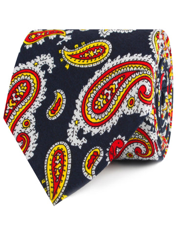 Vulcano Red & Yellow Paisley Tie
