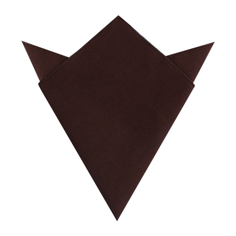 Walnut Brown Slub Linen Pocket Square