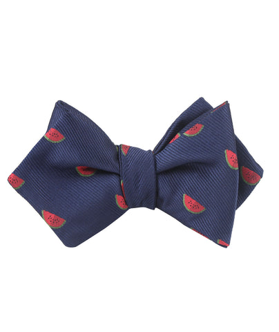 Watermelon Diamond Self Bow Tie