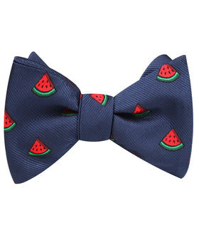 Watermelon Slice Self Bow Tie