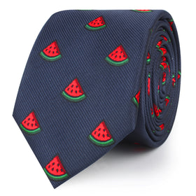 Watermelon Slice Skinny Tie