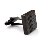 Wave Black Metal Cufflink OTAA Front Side