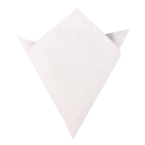 Ivory Linen Pocket Square