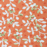 White Orchid Dusty Orange Floral Necktie Fabric