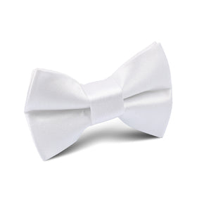 White Satin Kids Bow Tie