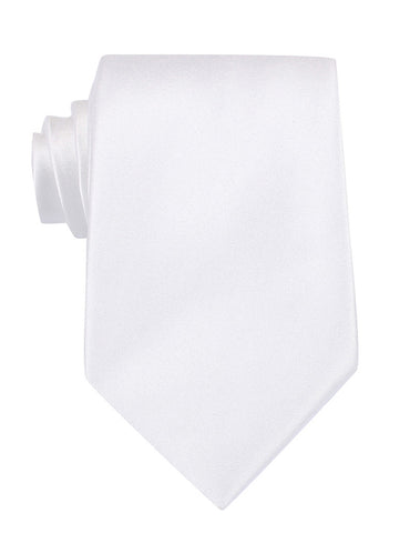 White Satin Necktie