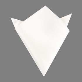 White Satin Pocket Square