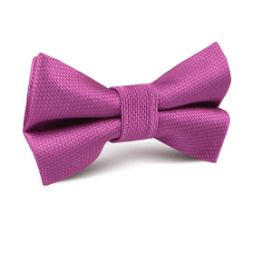 Wild Orchid Purple Weave Kids Bow Tie
