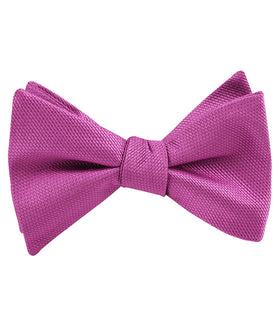 Wild Orchid Purple Weave Self Bow Tie