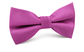 Wild Orchid Purple Weave Bow Tie