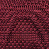 Winchester Burgundy Knitted Tie Fabric