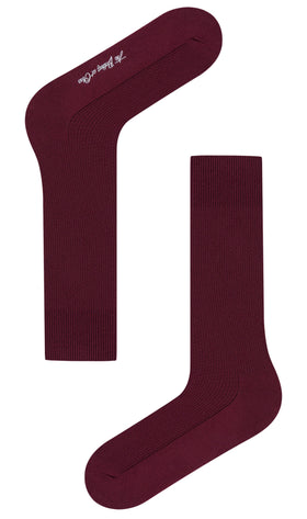Wine Burgundy Textured Socks