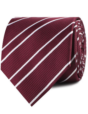 Wine Burgundy Double Stripe Necktie