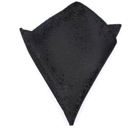 Black Pattern Pocket Square