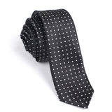 244687066cc3 Black with Small White Polka Dots - Skinny Tie | Men Ties ...