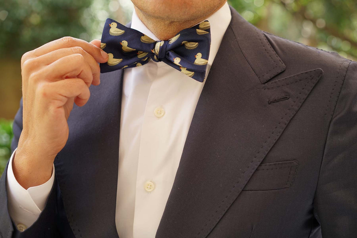 Yellow Duck Self Bow Tie