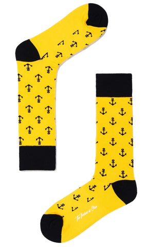 Yellow Anchor Socks