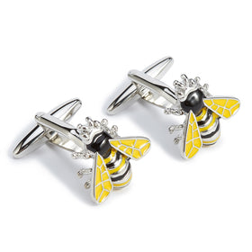 Yellow Bumble Bee Cufflinks