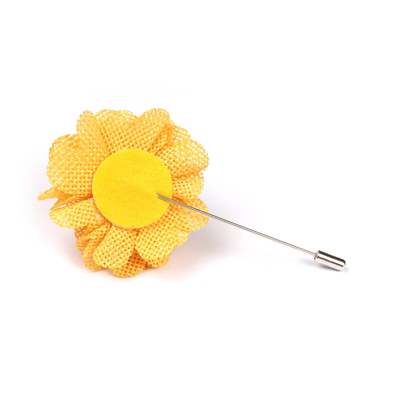 Melbourne cup yellow lapel flower otaa melbourne cup yellow lapel flower pin back boutonniere mightylinksfo