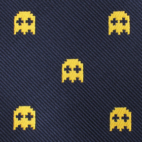 Yellow Ghost Pixel Bow Tie