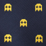 Yellow Ghost Pixel Pocket Square Fabric