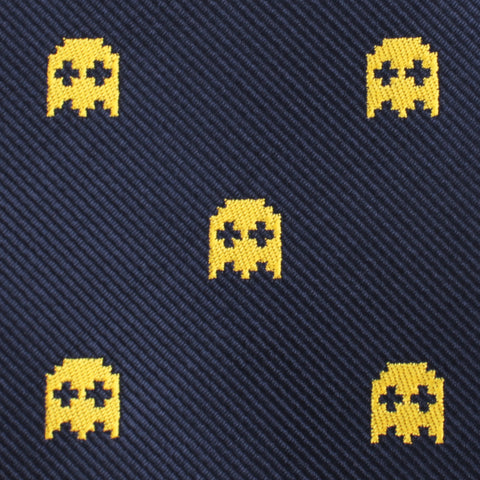 Yellow Ghost Pixel Pocket Square