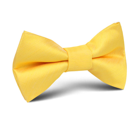 Yellow Grain Slub Kids Bow Tie