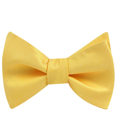 Yellow Grain Slub Self Bow Tie