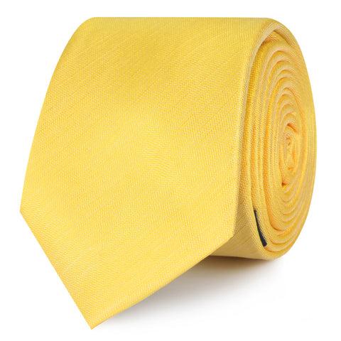 Yellow Grain Slub Skinny Tie
