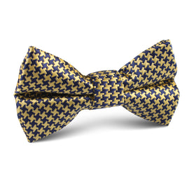 Yellow Houndstooth Kids Bow Tie