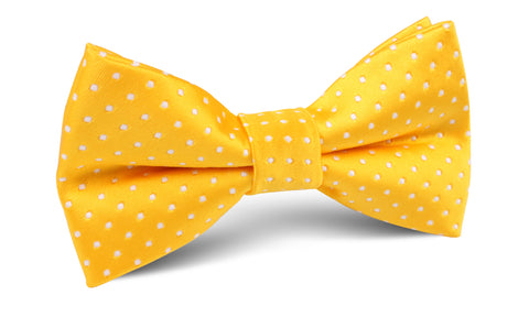 Yellow Mini Polka Dots Bow Tie