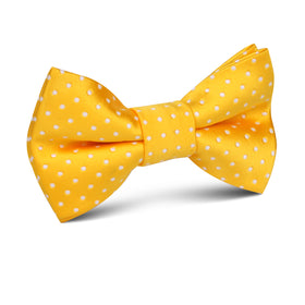 Yellow Mini Polka Dots Kids Bow Tie