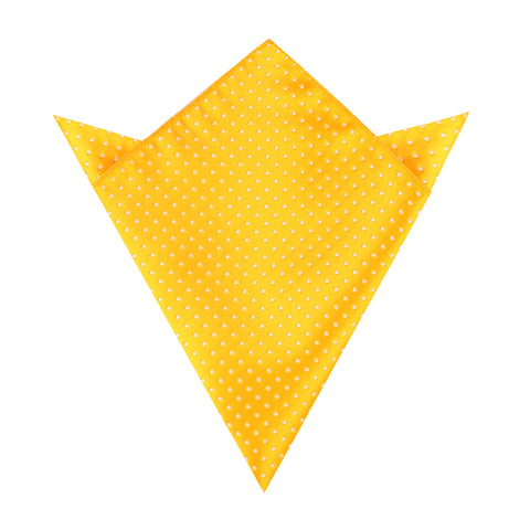 Yellow Mini Polka Dots Pocket Square
