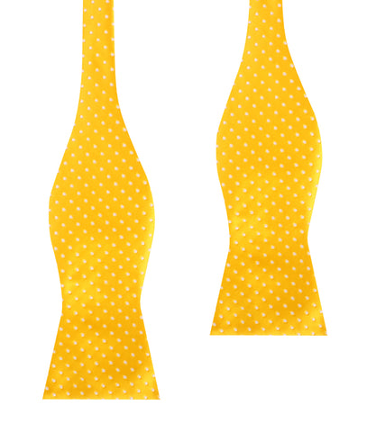 Yellow Mini Polka Dots Self Bow Tie
